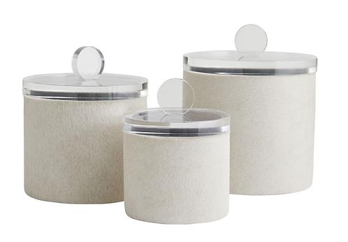 Decorative Cowhide Container Set (3)