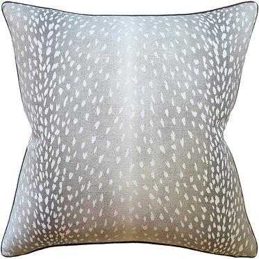 Piped - Doe Linen Pillow