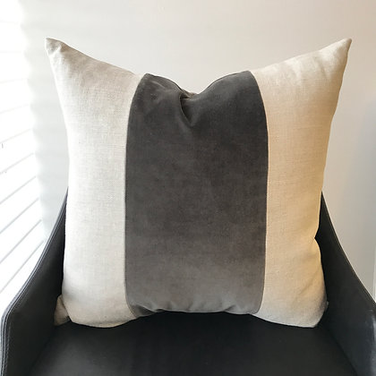 Linen/Velvet Stripe Pillow