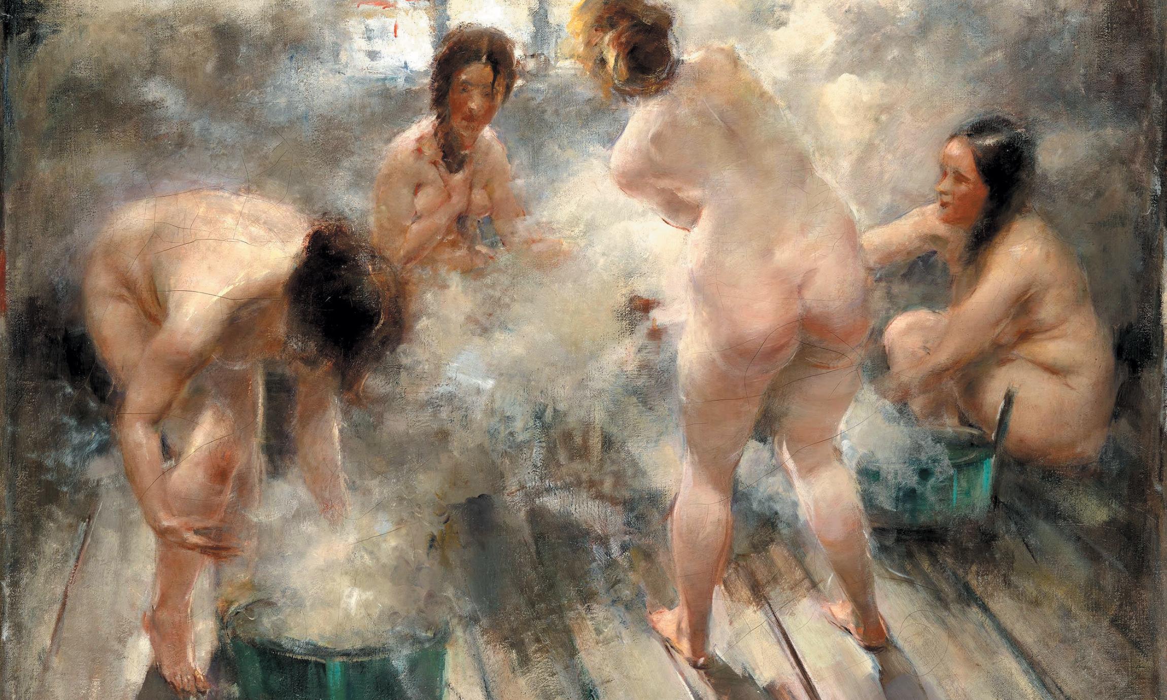 мытье женщин в бане - 10