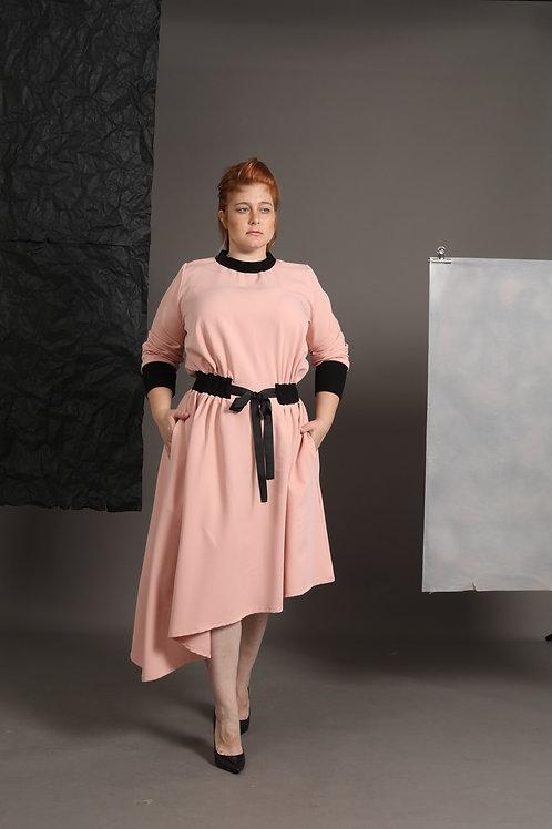 """Pink Asymmetrical Dress """"Sandy"""""""