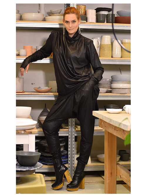 "Black Trousers ""Raindrops"""