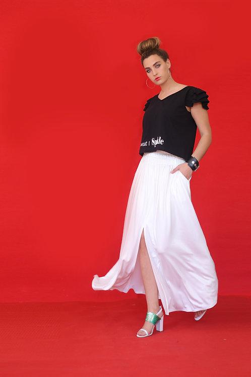 """White Skirt """"Sake"""""""