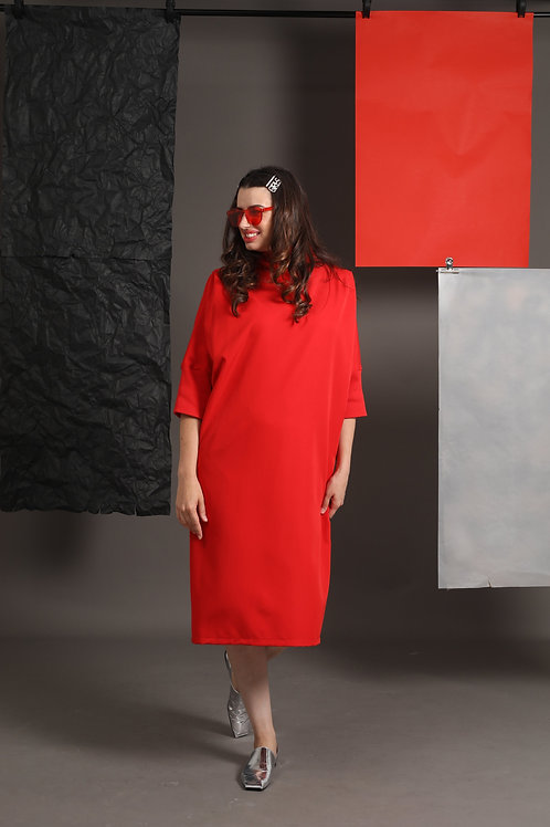 "Red Golf Dress ""Callas"""