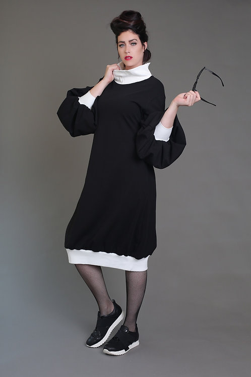 "Black Turtle-Neck Dress ""Angie"""