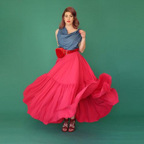 "Fuchsia Skirt ""Peachy Hannah"""