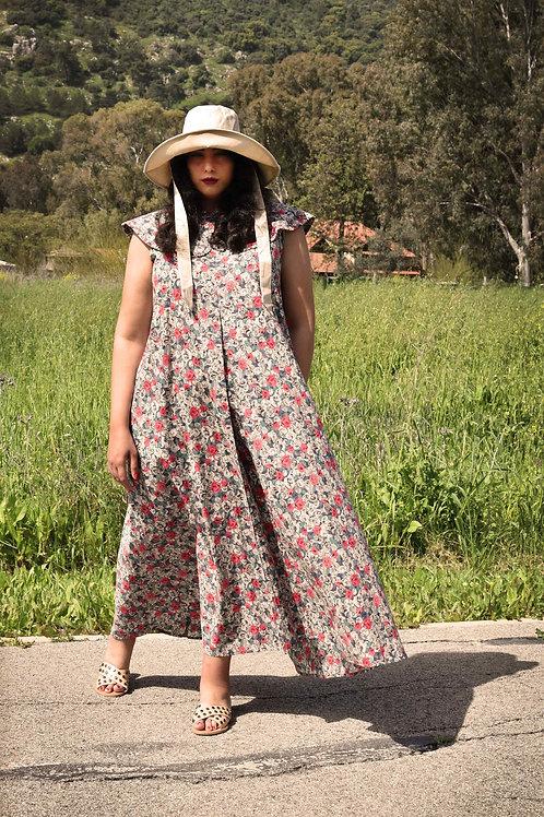 "Flower Print Maxi Dress ""San Francisco"""
