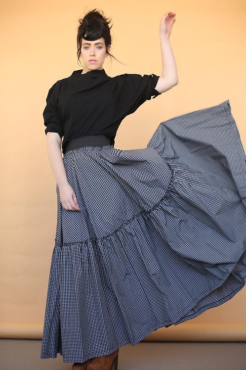 "Black and White Maxi Skirt ""Frida"""