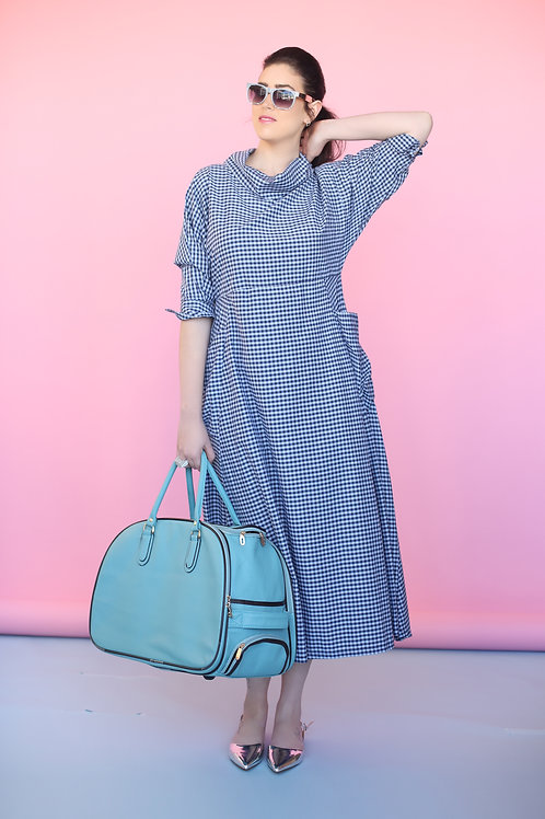 "Blue Turtleneck Dress ""Hamptons"""