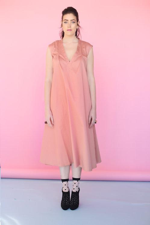 "Pink ""Shoshana"" V-cleavage Dress"