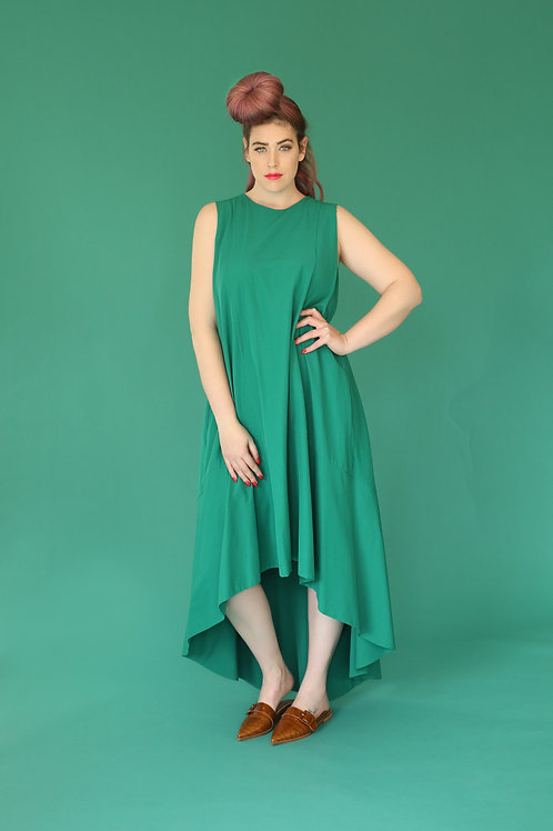 "Green High and Low Dress ""GaliLime"""