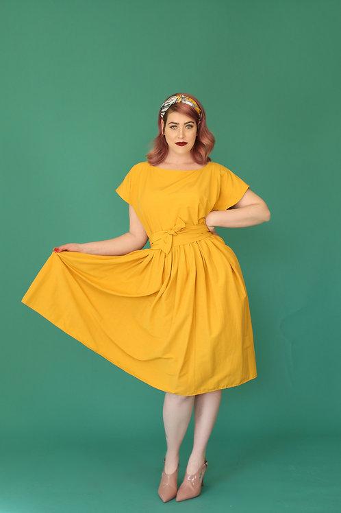 """Yellow Midi Dress """"BonanoBanana"""""""