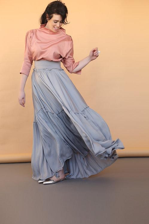 "Grey Maxi Skirt ""Vivienne"""