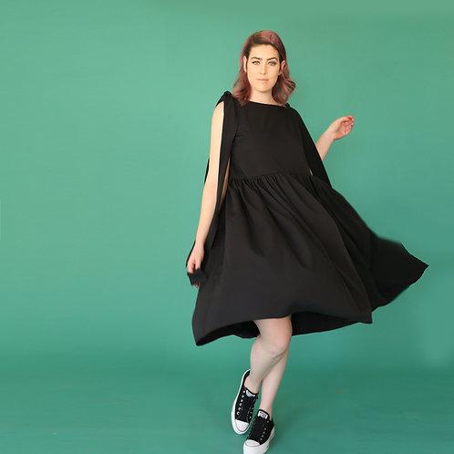 "Black Midi Dress ""Poppy Seed Anat"""