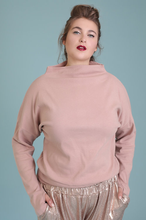 "Pink-Nude Sweatshirt ""Clouds"""