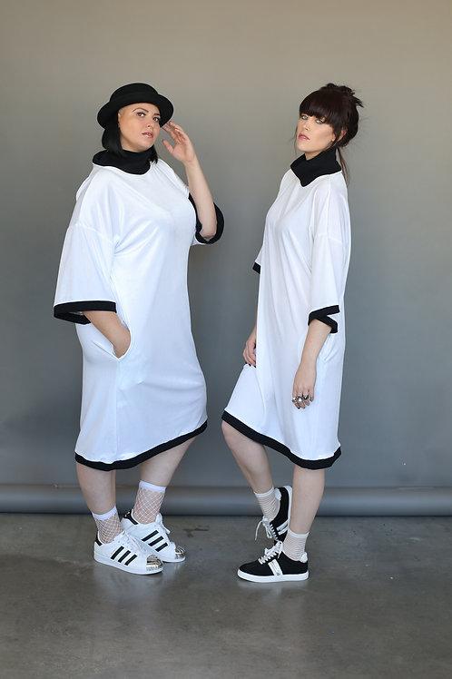 """White Velvet Dress """"Whitish"""""""