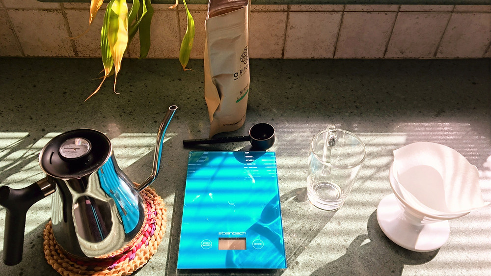 Filter coffee V60. Home brewing