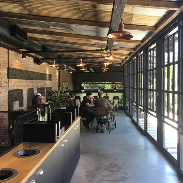 Huge terrace at Cafe Registrado Specialty Coffee Buenos Aires Argentina