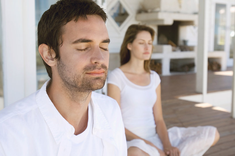 Couple Meditating