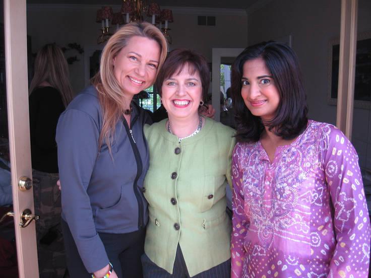 Beth Handler, Carol Evans, and Mallika Chopra