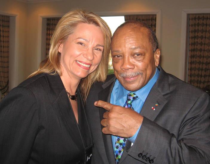 Beth Handler and Quincy Jones