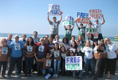 The Launch of Hug It Forward in San Diego