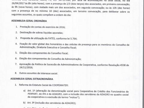AGE/AGO 2021- Edital de Convocação