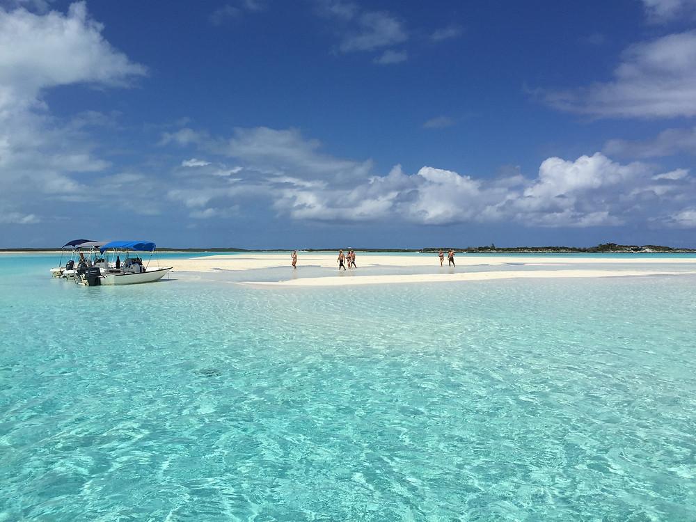 Bahamas, Exuma, Sand bank