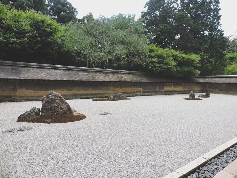GIAPPONE. A Kyoto, il Ryonanji Temple e il giardino giapponese Karesansui
