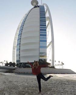 Dubai, the Burj Al Arab and a little bit of happiness at sunset in Jumeirah Beach...