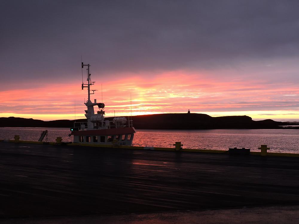 Stykkisholmur, Tramonto di mezzanotte, Islanda