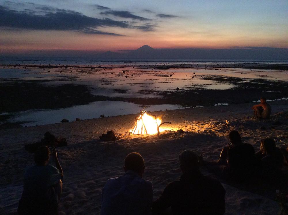 sunset Gili T., White Bar, Indonesia