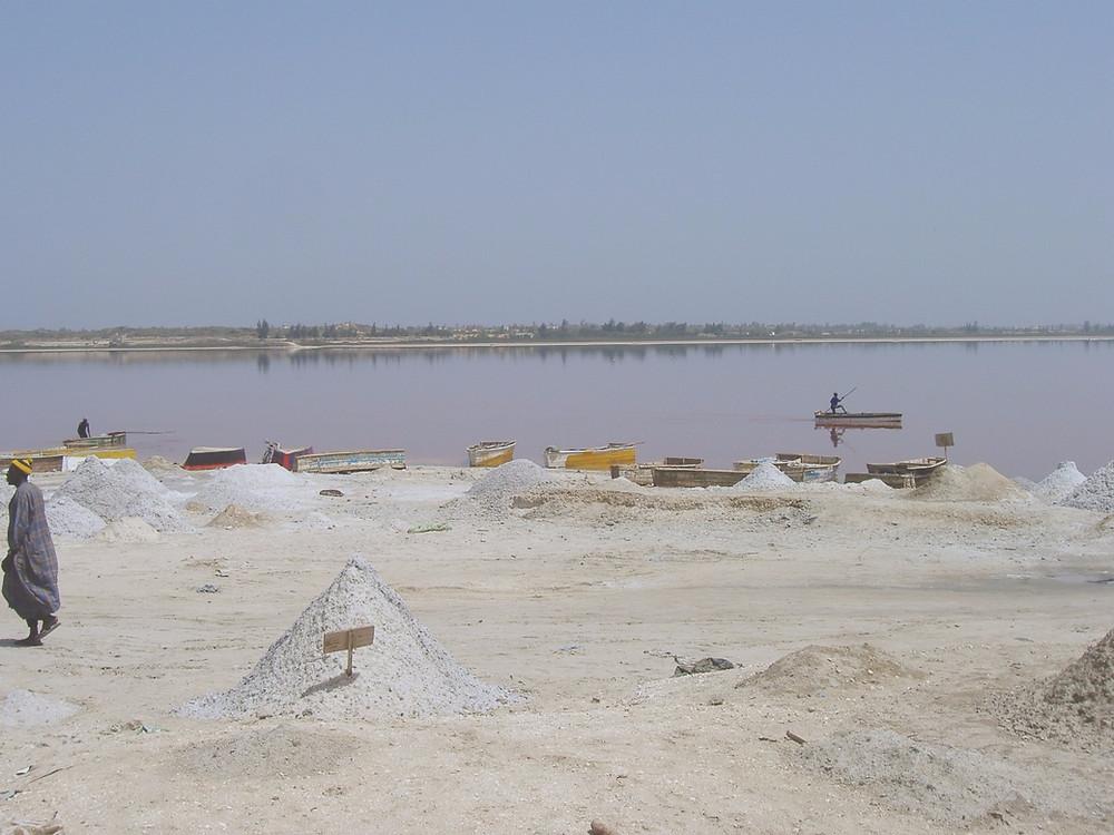 Lago Rosa o Lago Retba, Senegal, Africa