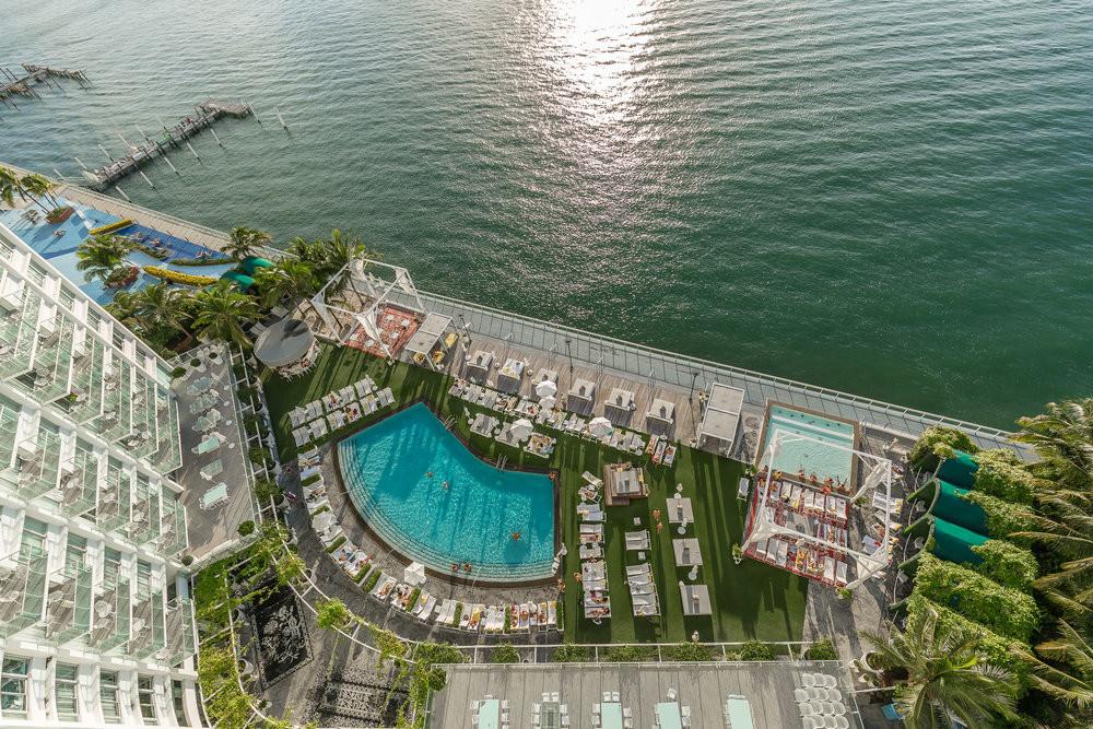 Hotel Mondrian, South Beach Miami, Usa