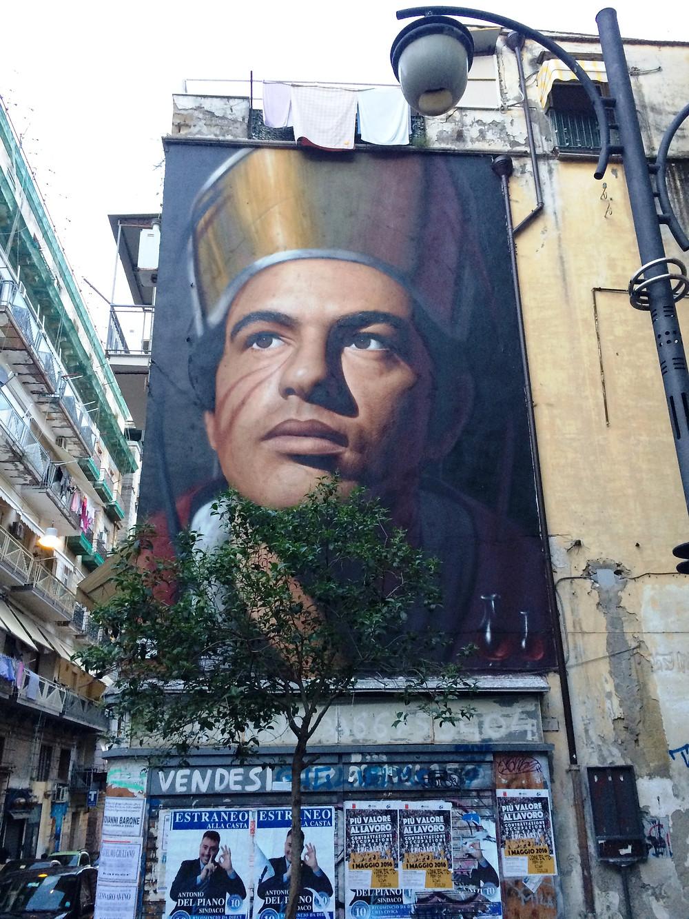 Napoli, San Gennaro, murales