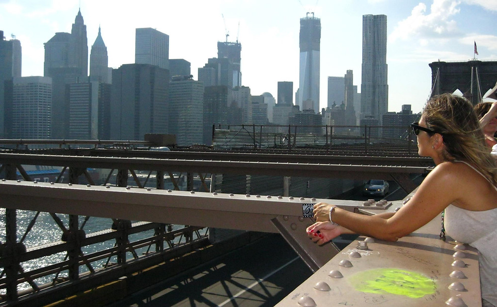 vista di New York dal ponte di Brooklyn