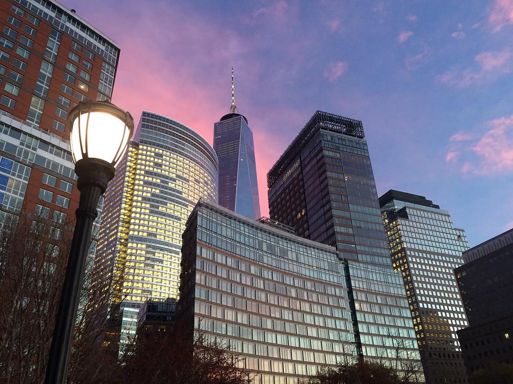 Financial District al tramonto