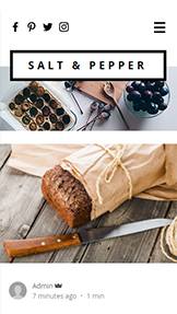 Lifestyle template – Blog di Cucina