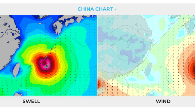 2019 Typhoon No.3 approaching East Taiwan, Swell looks promising starts from 6th~11th Aug.