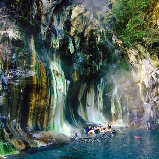 Wild hot spring adventure