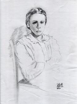 Maedchen (Bleistift auf Papier)