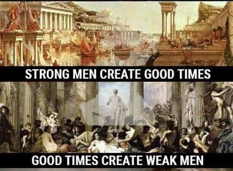 HARD TIMES MAKE STRONG MEN