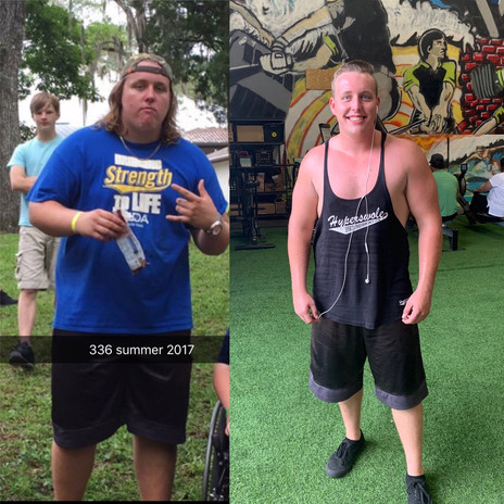 Jacob lost 100lbs, and gained muscle