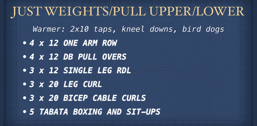 Just Weights Pull Upper & Lower