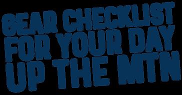 Gear Checklist Banner