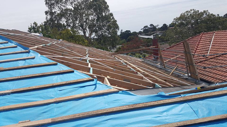 New Roof Frame Up | Hamiltons Roofing Melbourne