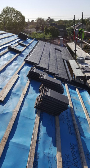 Placing of tiles | Hamiltons Roofing Melbourne