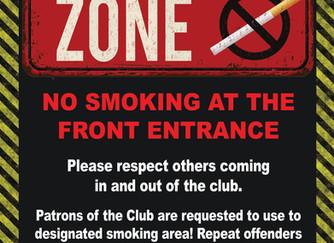 No Smoking in Club Entrance