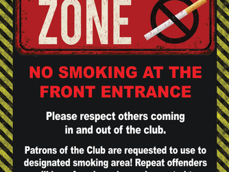 No Smoking in Club Entrance