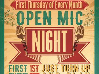 New Open Mic Nights!